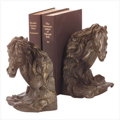 HORSE`S HEAD BOOK ENDS
