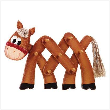 WOOD HORSE WALL HANGER