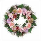 ROSE HYDRANGEA MIXED WREATH