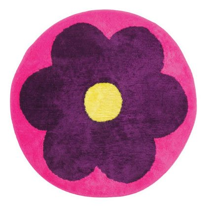 FLOWER ROUND SHAPE RUG