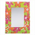 FLORAL FABRIC FRAMED MIRROR