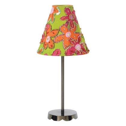 FLORAL FABRIC SHADE CANDLELAMP