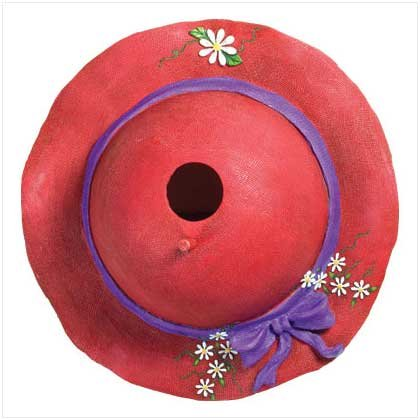LADIES CLUB RED HAT BIRDHOUSE
