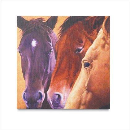 HORSES CANVAS ART PRINT