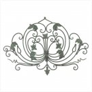 DARK GREEN WROUGHT IRON WALL PLAQUE