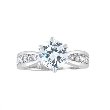 CZ SOLITAIRE SILVER RING