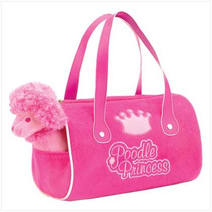 POODLE STUFFED TOYS W/CARRIER