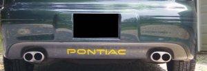 Pontiac Grand Prix rear bumper inlays 97-03