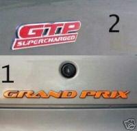 Pontiac Grand Prix GTP side badge & trunk overlays