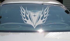 HUGE Pontiac arrow flame decal Grand Prix Am GTO GTP Firebird