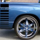 Dodge HEMI gradient bedside bed side decals