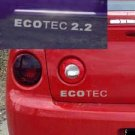 Cobalt Saturn Ion G6 Cavalier ECOTEC 2.2 decal decals