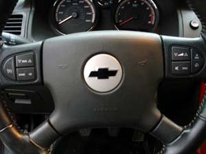 Steering wheel bowtie overlay for Chevy Chevrolet Cobalt SS