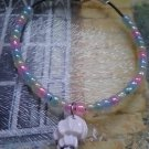 "7.25"" handmade seashell and seed bead bracelet"