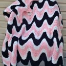 Ripple Afghan - 3 Color (Exaggerated Ripple) Crochet Pattern e PDF File #100