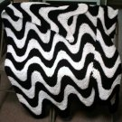 Ripple Afghan - 2 Color (Exaggerated Ripple) Crochet Pattern PDF File #103e
