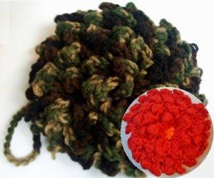 Leaf Scrubber / Flower Scrubby Crochet Patterns PDF File #1950