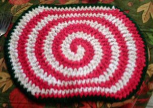 Crochet Pattern e PDF File for X-Large Candy Swirl Hot Pad