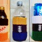 Football & Baseball Team Colors Bottle Cozy Crochet Patterns PDF File e
