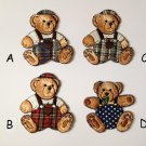 Cute classic Brown Traditional Bear Iron On Patchwork Teddy Embroidery Applique Patch DIY Clothing