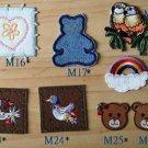 8 pcs mix and match DIY jacket jean rainbow deer apple duck baby clothing emboridery sticker kingdom