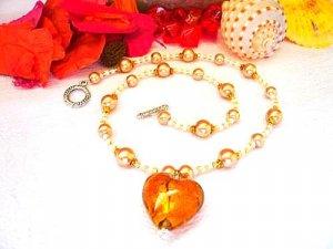 Adelina Lampwork Necklace