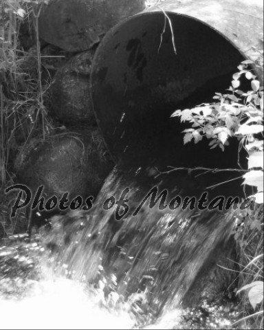 8x10 Photo ~ Black & White #003 Irrigation in Montana