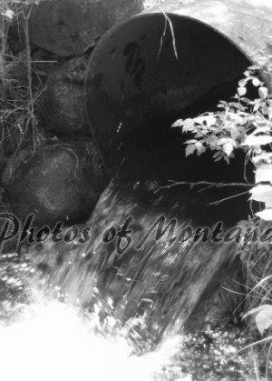 5x7 Photo ~ Black & White #003 Irrigation in Montana