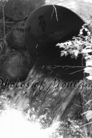 4x6 Photo ~ Black & White #003 Irrigation in Montana