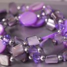 Purple layered bracelet