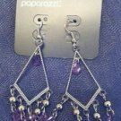 Purple & silver chandelier earrings