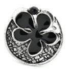 Black and silver flower ring