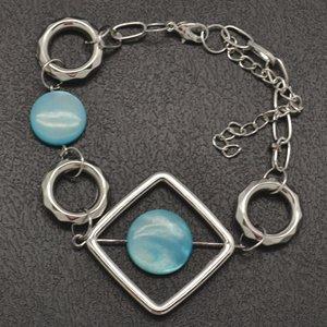 Light blue and silver bracelet