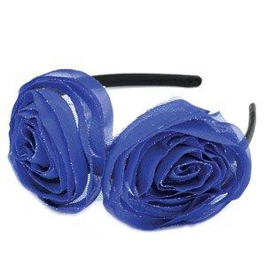 Double blue flower headband