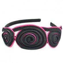 Pink and Black swirl headband