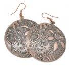 Copper circle earrings