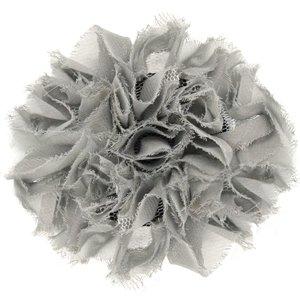 Silver hair clip