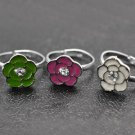 One child's silver flower ring - choose color