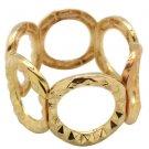 Gold circle stretchy bracelet