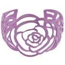 Light purple rose cuff link bracelet