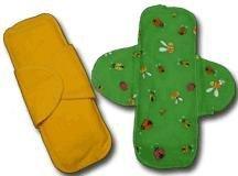 Ladybird Orange cotton cloth menstrual pad