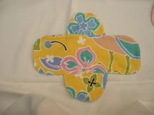 Paradise yellow cotton cloth menstrual pad - single inner pad (normal flow)(RM20)
