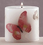 Butterfly & Flowers Scented Candle