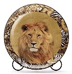 Safari Lion Patchwork Plate