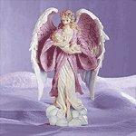 Angel Holding Baby Figurine