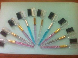 NEW Eyelash Extension Colorful Brow & Lash Comb & Brush Qty: 12 lot NEW