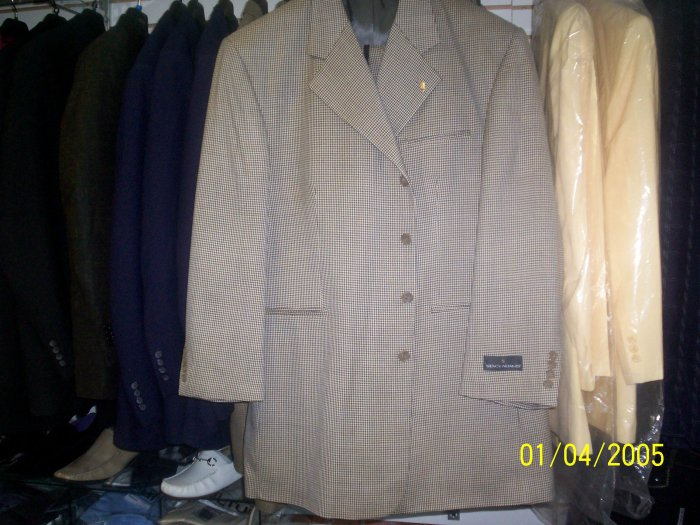Tan & Chocalate Houndstooth 2 peice Suit Stacy Adams