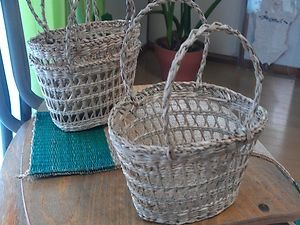 TATAMI MATERIAL SOFT RUSH BASKET ORGANIZATION AND DECORATION