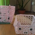 LACE ANIMAL BASKET GREAT FOR ROOM ORGANIZATION AND DECORATION