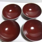 JAPANESE TRADITIONAL ECHIZEN LACQUER WEAR SET OF 4  MADE IN JAPAN